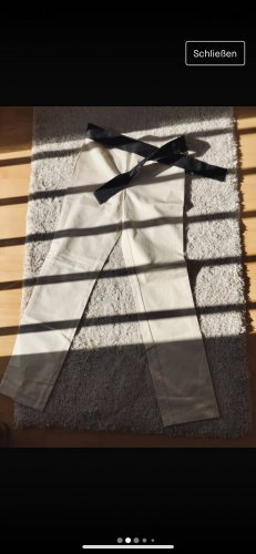 Moschino Jeans a gamba dritta bianco sporco-nero Cotone