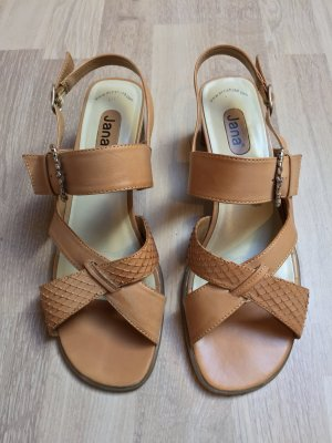 Beige nude Riemchen Sandalen, Sandaletten von Jana, Gr. 40,5