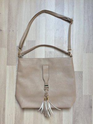 Beige nude Umhänge Tasche Leder von Helena Vera (NEU)