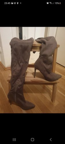 Buty nad kolano beżowy