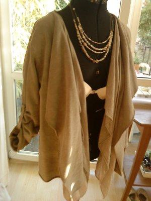 beige oversized-Jacke made in Italy 38/40