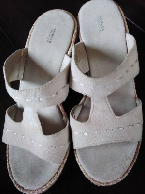Marks & Spencer Mule à talon beige clair