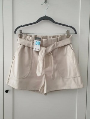 Beige Paperpack Shorts