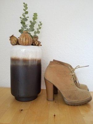 Botte à plateforme brun sable