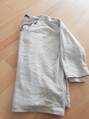 Sweter z krótkim rękawem beżowy