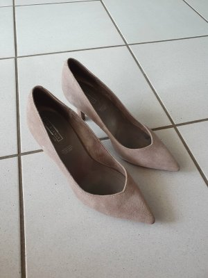 5th Avenue Pointed Toe Pumps grey brown-light brown