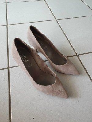 5th Avenue Zapatos de punta marrón grisáceo-marrón claro