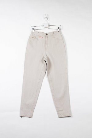 Rosner Jeans a vita alta beige Denim