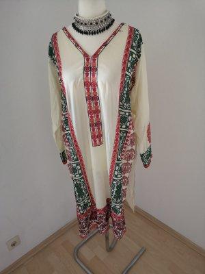 Vestido de lana blanco puro-crema