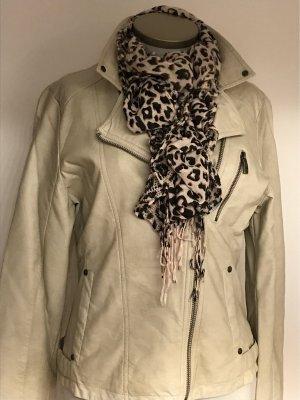 Laura Torelli Faux Leather Jacket cream-beige
