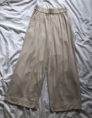 Monki Pantalon pattes d'éléphant beige clair-blanc cassé
