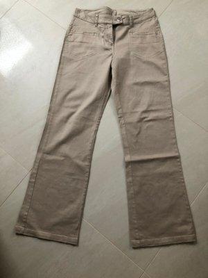 Giada Pantalone a zampa d'elefante beige chiaro-beige Cotone