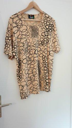 Beige-schwarz-glänzendes Shirt by Chellis