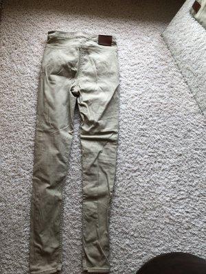 H&M Jeans vita bassa beige-beige chiaro