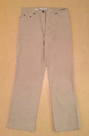 beige Strech Hose, lang, high waist, Gr. 20 (entspr. Gr. 40)