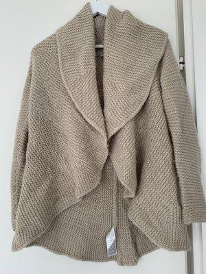 Soccx Veste tricotée en grosses mailles beige
