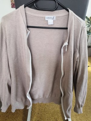 Beige Strickjacke von Collection L in Größe 38