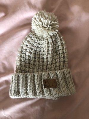 Berydale Chapeau en tricot beige clair-crème