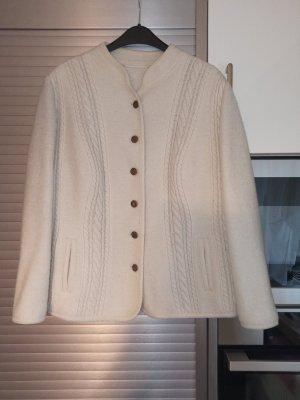 Veste bavaroise beige clair laine