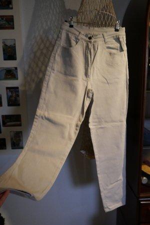 Vintage Hoge taille jeans licht beige-room Katoen