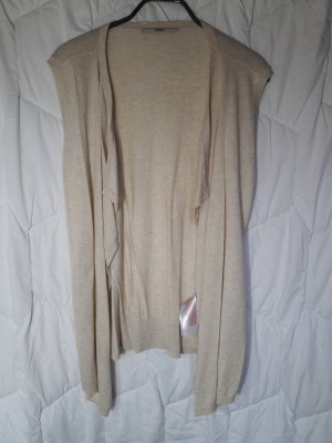 Only Gilet long tricoté beige