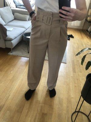 Beige Wide Leg Hose, Größe 36