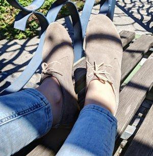 Beige wild Leather Loafers EU40
