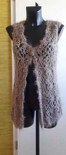 Betty Barclay Smanicato lavorato a maglia marrone chiaro-beige