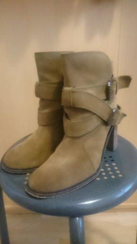 Zara Basic Bottines à enfiler brun sable-ocre