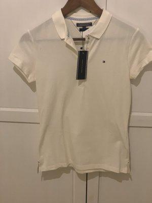 Beigefarbendes Poloshirt