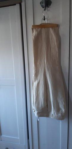 Gelco Pantalone di lino oro-crema