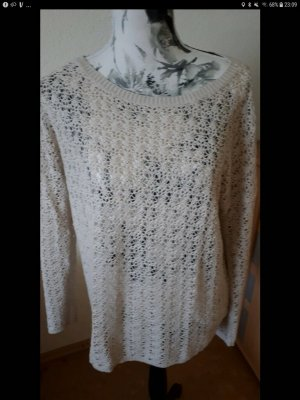 Amisu Crochet Sweater cream-beige