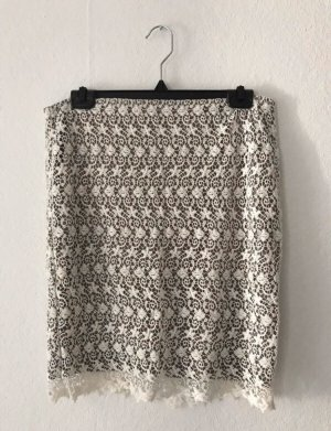Only Lace Skirt natural white-grey brown