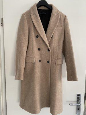 Zara Woman Winterjas beige-room Polyester