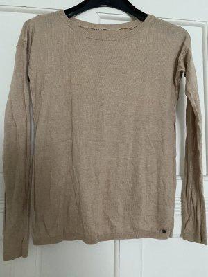 Beiger dünner Pullover vintage blogger style