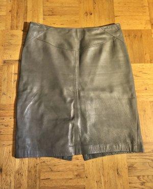 ARMA Jupe en cuir beige-gris brun cuir