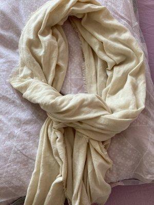 Beiger/ Pastellgelber Schal