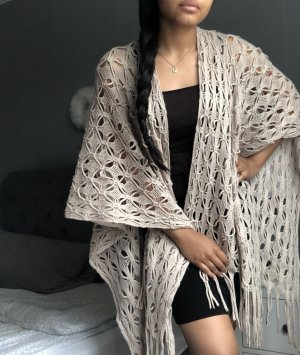 Maurices Knitted Poncho cream