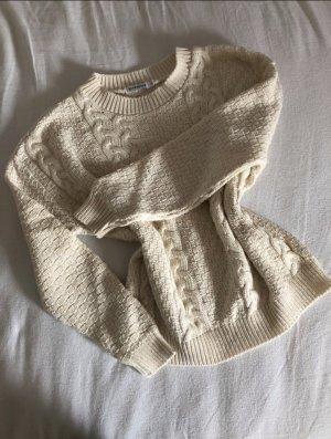 Glamorous Warkoczowy sweter kremowy-jasnobeżowy