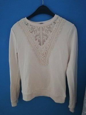 Orsay V-Neck Sweater cream-natural white mixture fibre
