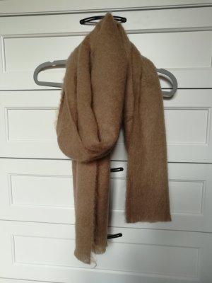 Mango Bufanda de lana marrón arena Acrílico