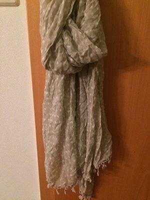 Écharpe en tricot beige-blanc cassé polyester