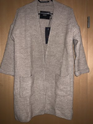 Only Cardigan a maglia grossa color carne