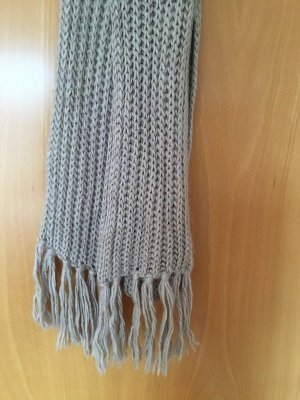 H&M Fringed Scarf oatmeal mixture fibre