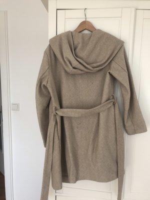 Zara Płaszcz z kapturem jasnobeżowy