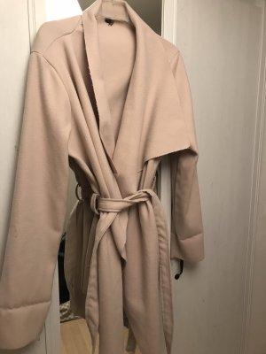 100% Fashion Manteau d'hiver crème-rose chair