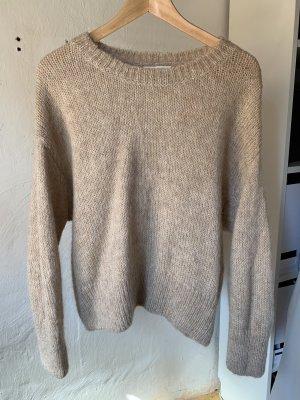 Beiger Wollmix Pullover