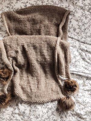 Miss Selfridge Woolen Scarf light brown-beige
