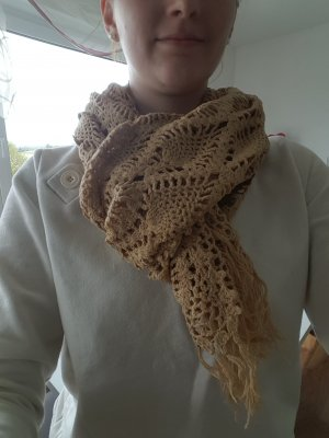 Beiger wunder voller Schal