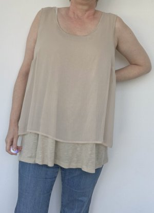 Alba Moda Top long beige viscose